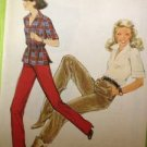 Sewing Pattern No 8296 Simplicity Ladies Pullove Blouse and Pants Size 8
