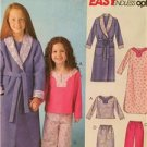 McCalls Sewing Pattern 4649 Girls Childs Robe Belt Top Gown Pants Size M-XL UC