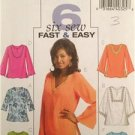 Butterick Sewing Pattern 4684 Ladies Misses Top Tunic Size XS-MD Uncut