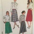 Simplicity Sewing Pattern 7767 Ladies Misses Set of Skirt Size 8 Uncut