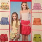McCalls Sewing Pattern 4867 Girls Childs Skirts Size 3-6 Uncut