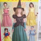 McCalls Sewing Pattern 5494 0245 Child Girls Witch Princess Costume Size 7-14