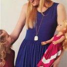 "Simplicity Sewing Pattern 0345 Misses Girls 18"" Doll Matching Dress 3-8 XS-XL"