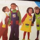 Butterick Sewing Pattern 6229 Childs / Toddlers Jumper & Jumpsuit Size 4-6 UC