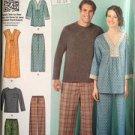 Simplicity Sewing Pattern 1721 Tunic Top Pants Shorts Siz 8-18 XS-XLWater Damage