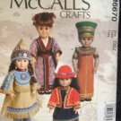 "McCalls Sewing Pattern 6670 0262 Crafts Dolls 18"" Clothing Accessories One Size"