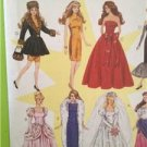 """McCalls Sewing Pattern 8552 Craft Fashion Doll Clothes 11 1/2"""" 8 Designs Uncut"""