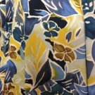 Fabric No 1006 Material Lightweight Blue & Yellow Large Flower Design