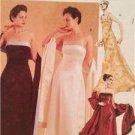McCalls Sewing Pattern 2954 Ladies Misses Lined Dress Stole Size 6-10 Uncut