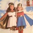 Butterick Sewing Pattern 3583 Girls Childs Superhero Costumes Size 2-5 Uncut
