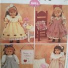 """McCalls Sewing Pattern 3275 0287 18"""" Doll Clothes Craft Projects Quilt Dress UC"""