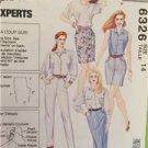 -McCalls Sewing Pattern 6326 Ladies Misses Skirt Shorts Pants Size 14 Uncut