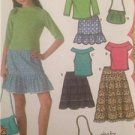 McCalls Sewing Pattern 4650 Girls Childs Purse Skirt Tops Size 8 1/2 - 16 1/2 UC