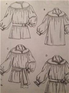 McCalls Sewing Pattern 4862 Misses, Mens Costume Historical Size XL-XXXL