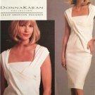 Vogue Sewing Pattern 1087 Ladies Misses Dress Donna Karan Size 4-10 Uncut