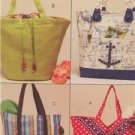 McCalls Sewing Pattern 5403 Four Beach Totes Accessories Uncut