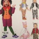 Simplicity Sewing Pattern 1766 0861 Toddler Zebra Owl Costume Hat Sz 1/2-4 Uncut
