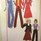 Sewing Pattern No 7721 Simplicity Junior Jacket Vest Skirt & Pants Size 13-16