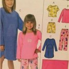 McCalls Sewing Pattern 4963 Girls Childs Tops Gown Shorts Pants Blanket Siz M-XL