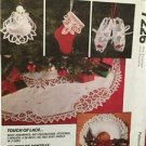 McCalls Sewing Pattern 7226 Touch Of Lace Christmas Gifts Ornaments Stockings UC