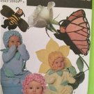 Simplicity Sewing Pattern 7868 Baby Toddlers Flower Bee Butterfly Size 1/2-4 UC