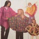 McCalls Sewing pattern 3307 Girls Childs Poncho Pull On Pant Size MD-XL Uncut