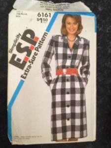 Sewing Pattern 6161 Simplicity Ladies Misses Button Front Dress Size 10-14 Uncut