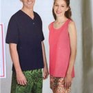 Simplicity Sewing Pattern 1398 Misses Mens Shorts Knit Top Size XS-XL Uncut