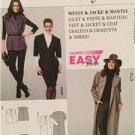 Burda Sewing Pattern 6989 Ladies Misses Jacket Coat Vest Size 8/10-28/30 Uncut