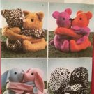 Butterick Sewing Pattern 4153 Hugging Pals Uncut Dogs Bunnies Cats Craft