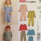 McCalls Sewing Pattern 5741 Toddlers Childrens Tops Pants Jumpsuit Size 1-3 UC