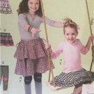 McCalls Sewing Pattern 6598 Childs Girls Skirts Leggings Size 7-14 Uncut