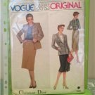 Vogue Sewing Pattern 2405 Misses Jacket Skirt Blouse Size 10 UC Christian Dior