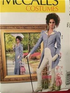 McCalls Sewing Pattern 7140 Misses Steampunk Jacket Skirt Costume Sze 14-22 UC