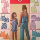 McCalls Sewing Pattern 4762 Girls Childs Tops Skorts Shorts Capri Pants Sz 3-6