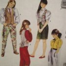 Sewing Pattern No 5200 McCalls Girls Size 14 Lined Vest Blouse and Skirt