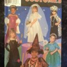 Simplicity Sewing Pattern 8885 Kids Costumes Bride Fairy Witch Size 3-8 Uncut