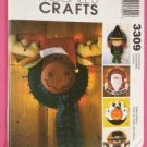 Simplicity Sewing Pattern 3309 Straw Hat Wreath Ghost Xmas Witch One Size