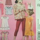 McCalls Sewing Patterns 6500 Girls Childs Leggings Dresses Tops Size 7-14 Uncut