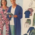 McCalls Sewing Pattern 4320 Misses Mens Robe Tops Shorts Pants Size L-XL Uncut