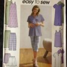 Sewing Pattern No 9188 Simplicity Maternity Tunic Dress Pants Shorts Size 16-22