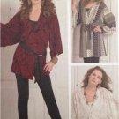 McCalls Sewing Pattern 5472 Ladies Misses Cardigan Belt Size L-XXL Uncut