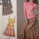 Simplicity Sewing Pattern 4499 Ladies Misses Skirts Shirt Camisole Size 14-22 UC