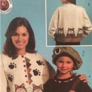 McCalls Sewing Pattern 5018 Misses Girls Kitty Beret Purse Pin Uncut One Size
