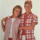 Simplicity Sewing Pattern 7999 Misses Mens Shirt Short Knit Top Size SM Uncut