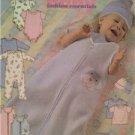 Butterick Sewing Pattern 4213 Infants Bunting Top Rompers Pants Hats Sze L-XL UC
