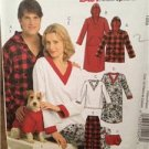 McCalls Sewing Pattern 5770 Misses Mens Teens Nightshirt Pants Size XS-MDUncut