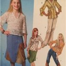 McCalls Sewing Pattern 4580 Girls Childs Tops Skirt Pants Size 10 1/2 -16 1/2 uc