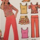 Simplicity Sewing Pattern 4617 Girls Childs Knit Tops Pants Shorts Sz 81/2-161/2