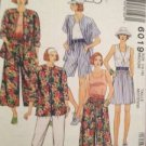 Sewing Pattern No 6019 McCalls Ladies Shirt Top Pants and Split Skirt Size 14-16